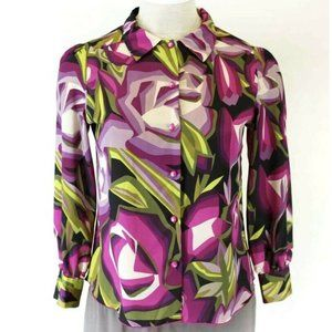Missoni Blouse Abstract Print Floral Button Down